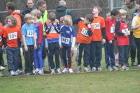 Youri en Hidde aan de start